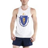 MEN'S PRINTED SINGLET- MASSACHUSETTS