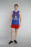 MEN'S PRINTED SINGLET- MICHIGAN - BOAUSA
