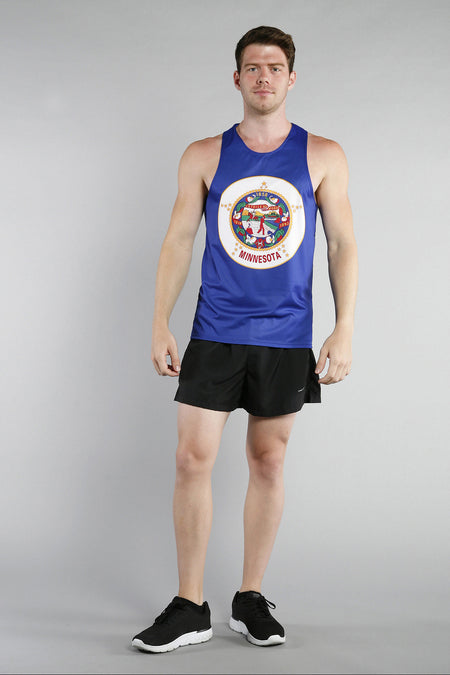 MEN'S PRINTED SINGLET- ARKANSAS