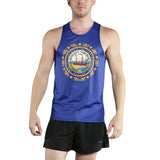MEN'S PRINTED SINGLET- NEW HAMPSHIRE