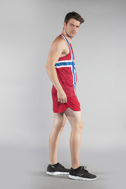 MEN'S PRINTED SINGLET- NORWAY - BOAUSA