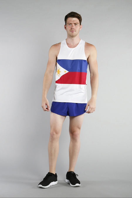 MEN'S PATRIOT PRINT SINGLET- US FLAG