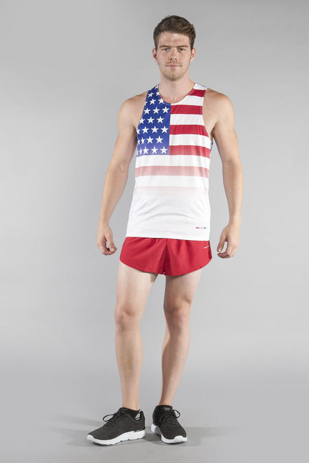 MEN'S PRINTED SINGLET- GREECE
