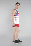 MEN'S PRINTED SINGLET- US FLAG - BOAUSA