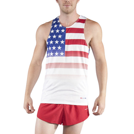 Men's American Flag Patriot Singlet
