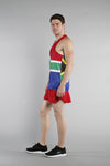 MEN'S PRINTED SINGLET- SOUTH AFRICA - BOAUSA