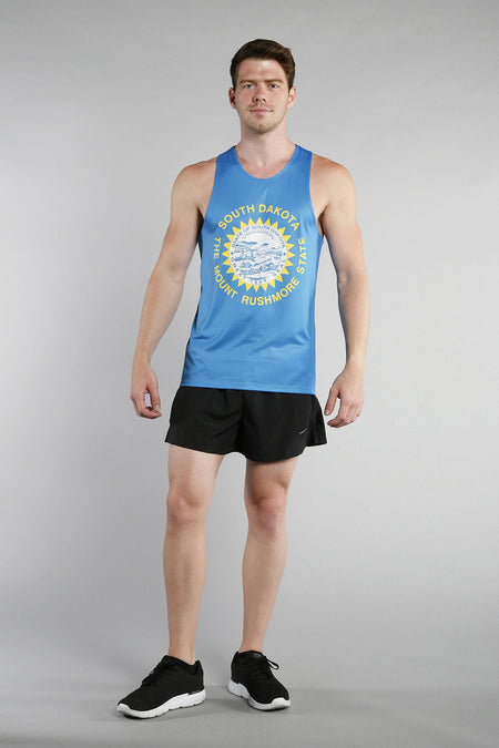 MEN'S PRINTED SINGLET- CONNECTICUT