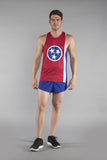 MEN'S PRINTED SINGLET- TENNESSEE - BOAUSA