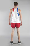 MEN'S PATRIOT PRINT SINGLET- US FLAG - BOAUSA