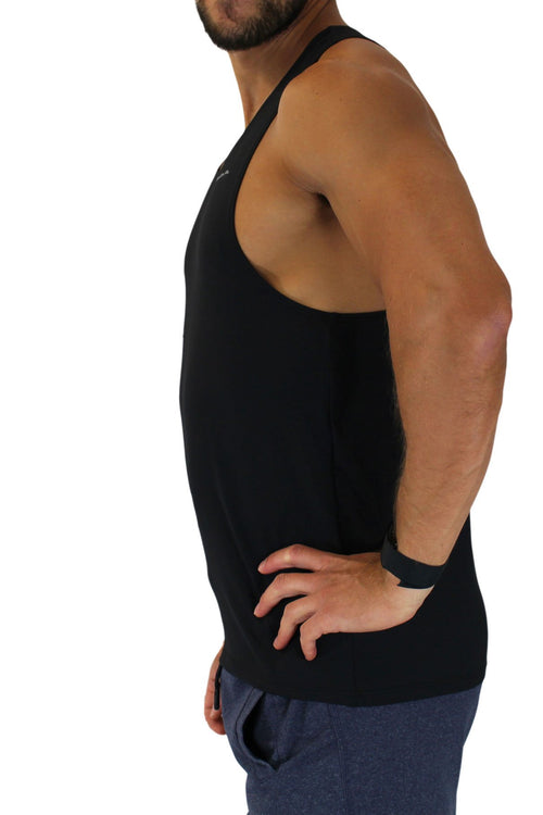 MEN'S VERSATEX ELITE RUNNING SINGLET- BLACK