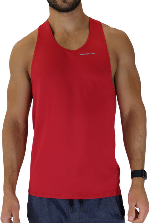 MEN'S VERSATEX ELITE RUNNING SINGLET- RED