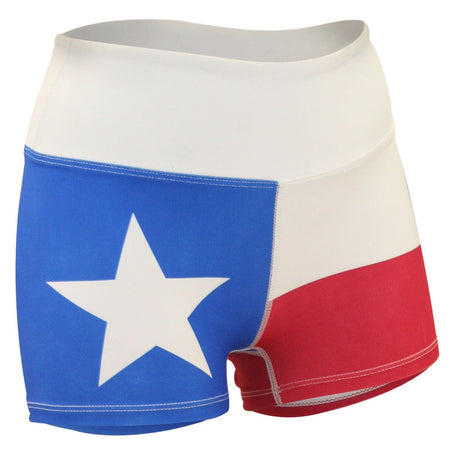 "WOMENS 1.5"" INSEAM ULTRA RUNNING SHORTS- TEXAS FLAG"