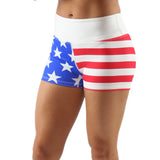 PRINTED FIT SHORT- US FLAG - BOAUSA