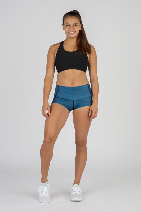 WOMEN'S SHORT MIX & MATCH FUNDER UNDERWEAR- CURRENT BLUE/WHITE