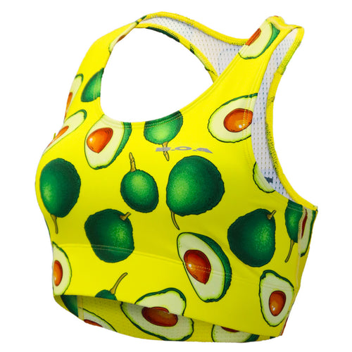Women's Printed Performance Bra - Avacado