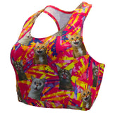 Women's Crazy Cats Performance Sports Bra
