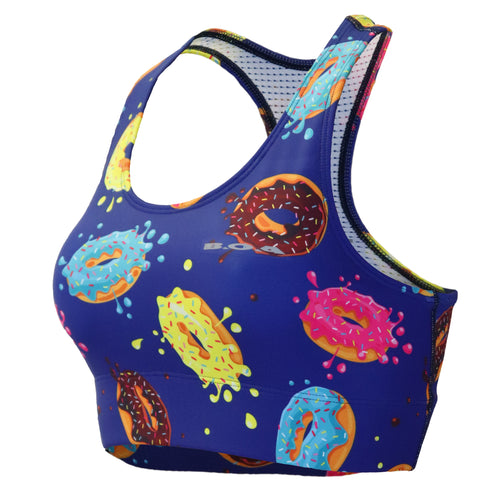 Women's Printed Performance Bra - Donuts
