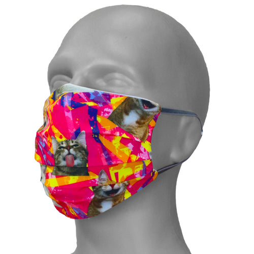 PRINTED PERFORMASK FACE MASK- CRAZY CATS