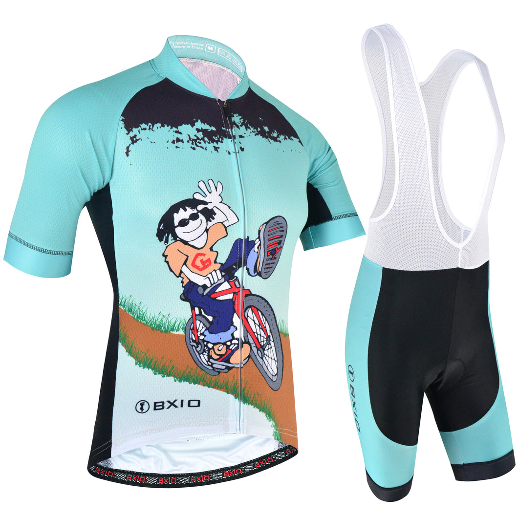BXIO Wholesale Bicycle Wear Men Short Sleeve Bike Jersey and Bib Set BX -0209M168 89f3890c4