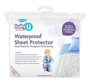 BabyU Waterproof Sheet Protector Mattress Kids Bed Wetting Potty Training Baby U