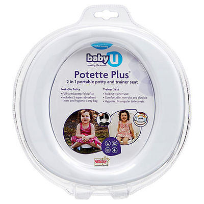BabyU Potette Plus Portable Potty Trainer and Seat Kids Portable Toilet Baby U