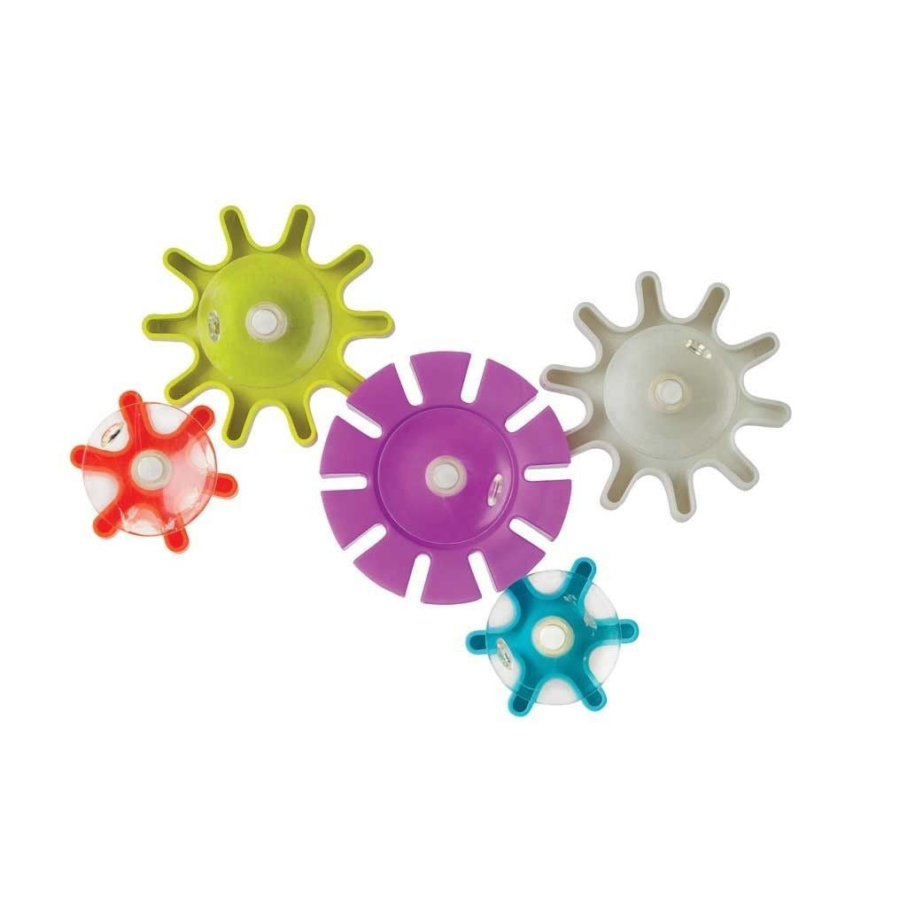 Boon Cogs Water Gears Bath Toy Cog Building Bath Fun Set 5 Cogs Suction to Bath