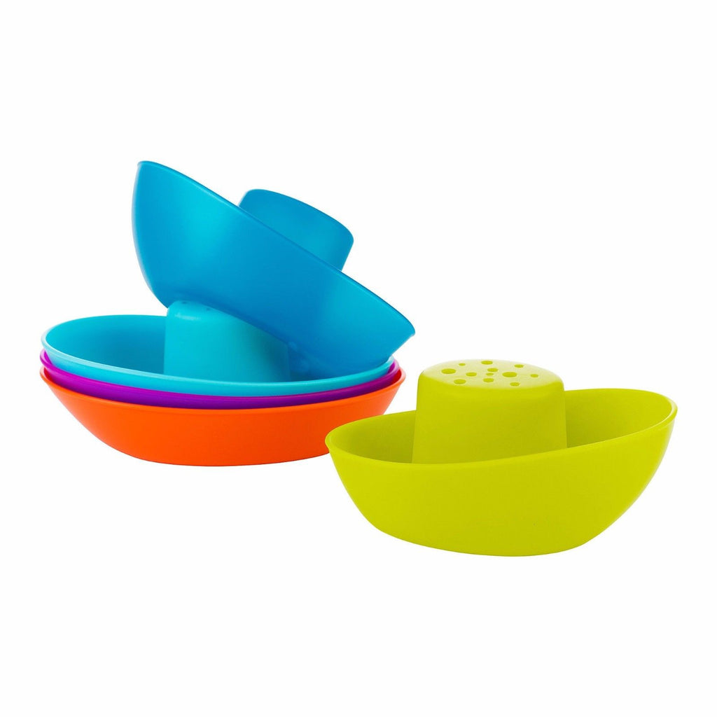 Boon Fleet Stacking Boats Bath Toy 5 Boats Toddler Bath Toy for 9 months+