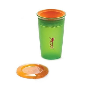 2 New WOW Juicy Spill Free Kids Cup & Lid 4 Colours BPA Free 360° Rim Non-Spill