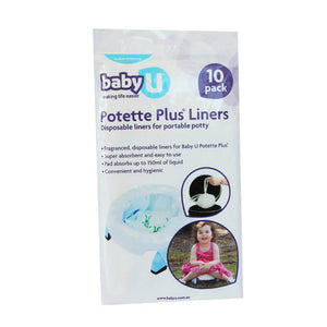 Baby U Potette Plus Disposable Liners 10 Pk Disposable Liners for Potette+BabyU