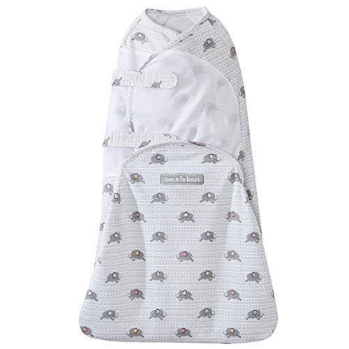 Halo SwaddleSure Small Elephant Grey Swaddling Pouch Baby Swaddle Small Halo
