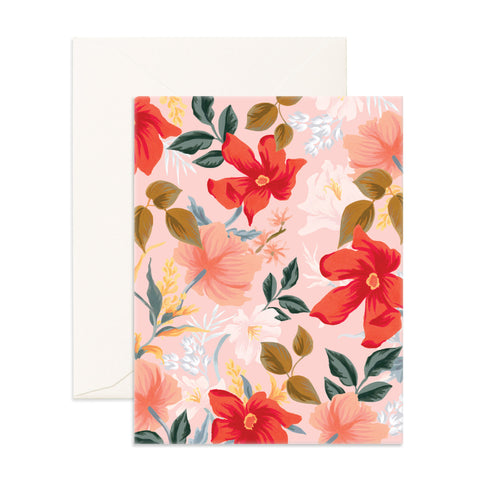 Poppy Blank Greeting Card - Min. of 6 per style