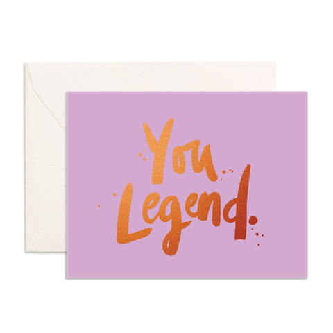 You Legend Greeting Card - Min. of 6 per style