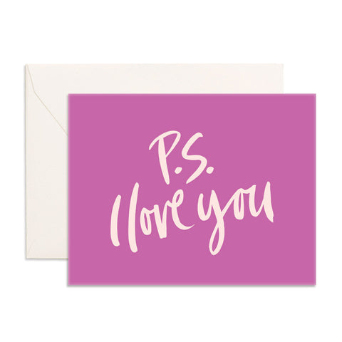 PS I Love You Greeting Card - Min. of 6 per style