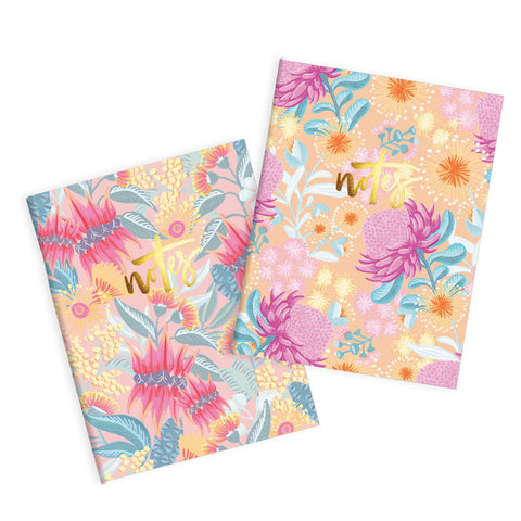 Desert Pea Pocket Notebook Pack - Min. of 3 per style