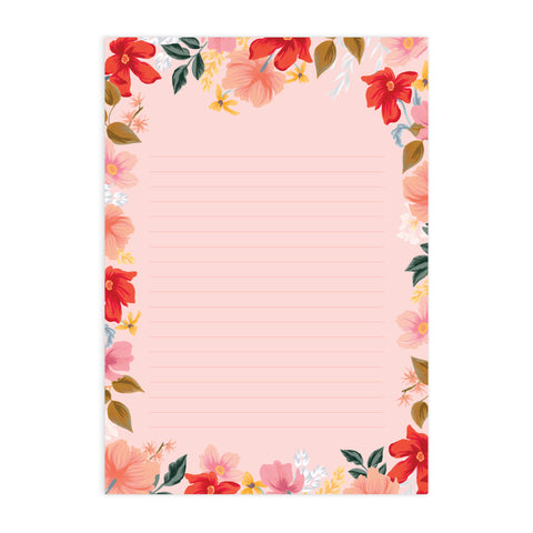 Wild Rose A4 Notepad - Min. of 4 per style