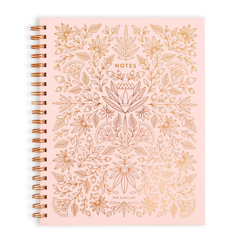 Rose Quartz Large Spiral Notebook - Min. of 3 per style