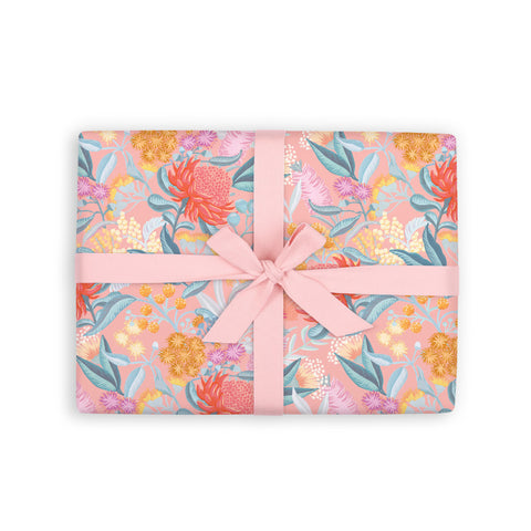 Wattle Gift Wrap Flat Sheet - Min. 12 sheets