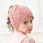 Warm Ponytail Hat For Kids (1-8y)