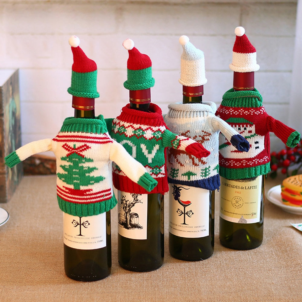 Knitted Wine Decorations