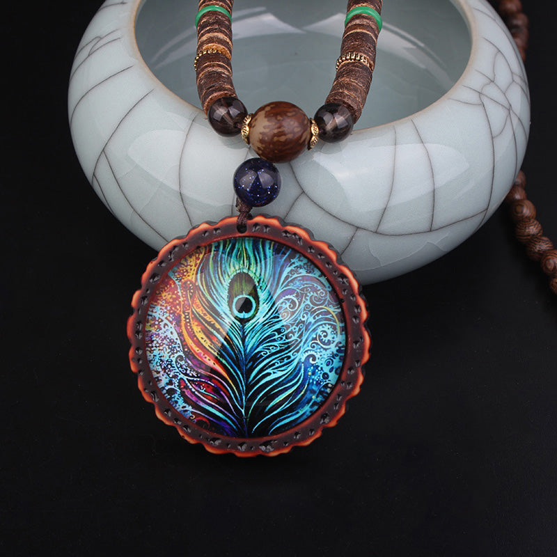 Magical Peacock necklace