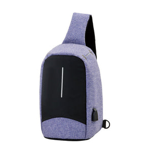 Anti-theft Unisex Shoulder Bag (With USB Port)