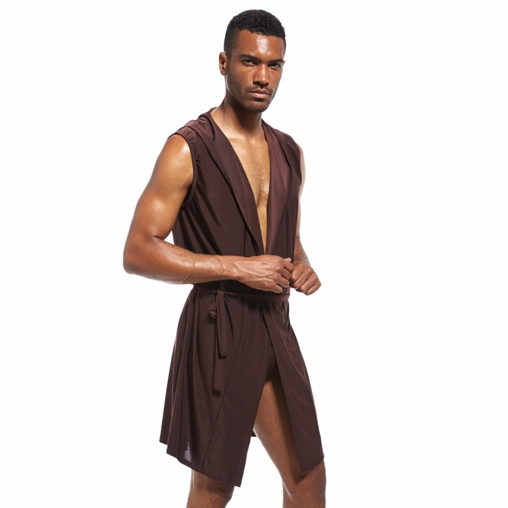 Men's silky pajama, bathrobe