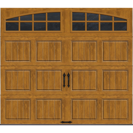 R Value Intellicore Insulated Ultra Grain Walnut Garage Door With