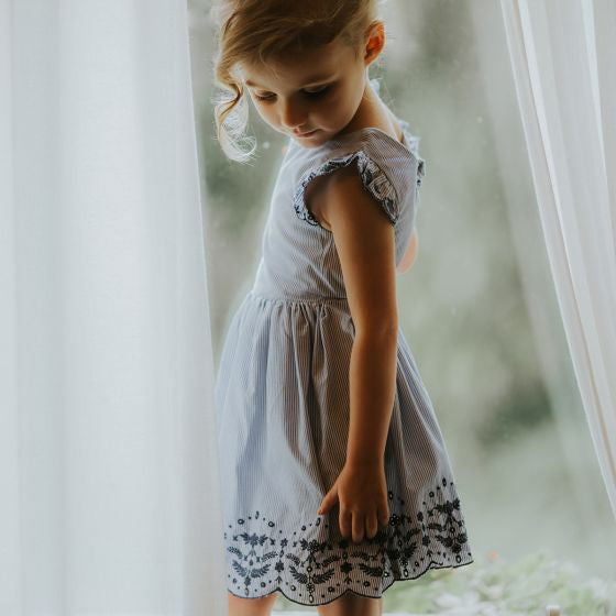 Betty S/S Dress W Back Bow