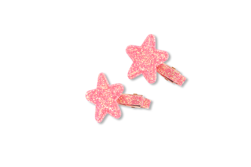 Mini Glitter Star Duck Clip
