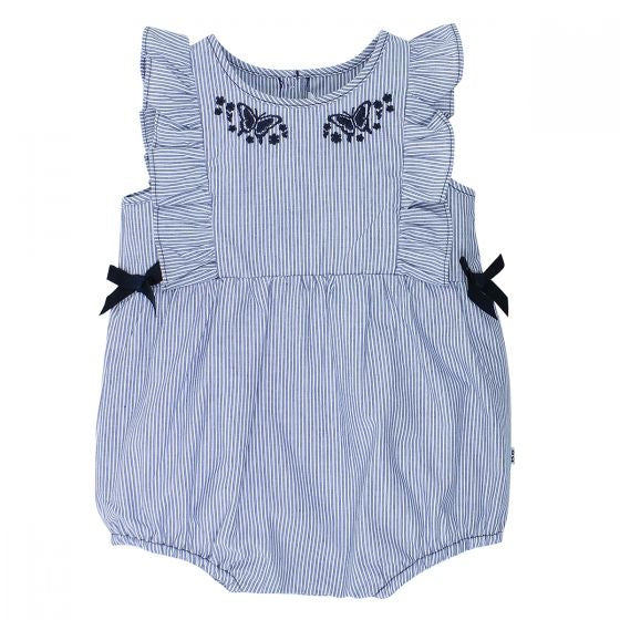 Betty Frill Romper with Bows