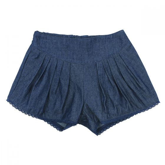 Kitty Chambray Pleat Short