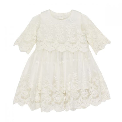 SS Lace Overlay Dress