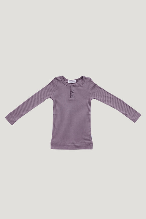Cotton Modal Henley - Dusk