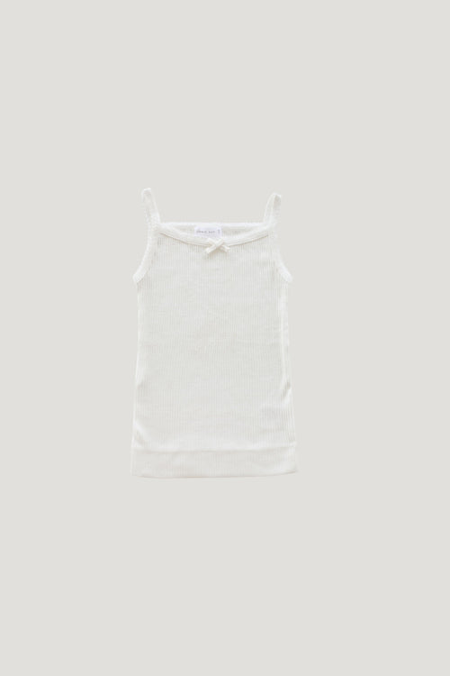 Rib Essentials Singlet - Milk